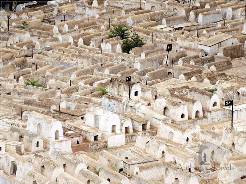 Fes: mellah (the Jewish quarter) - the Jewish cemetery