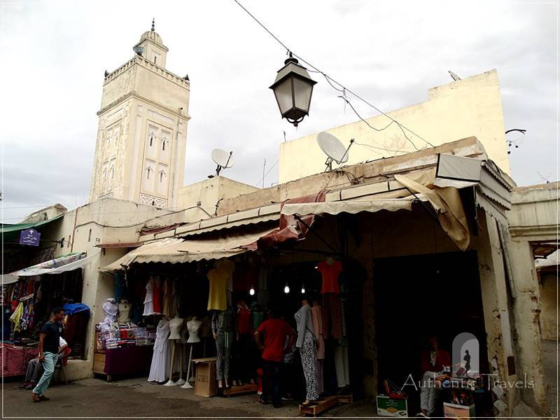 Fes-el-Jdid: the main street and mosque in the new medina