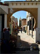 Azrou small Berber town: entrance gate to the medina
