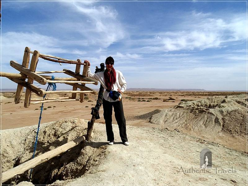 Majha Fezna: near one of the pits of the khattara irrigation system