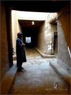 Ksar El Khorbat: a typical street in the ksar, with my painter/guide Rachid