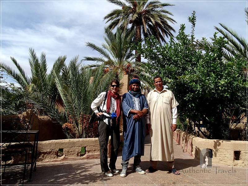 Ksar El Khorbat: with Rachid and the president of the Association Ksar El Khorbat
