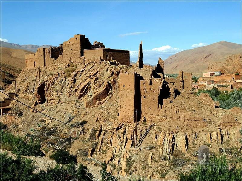Dades Valley - another kasbah on a hilltop