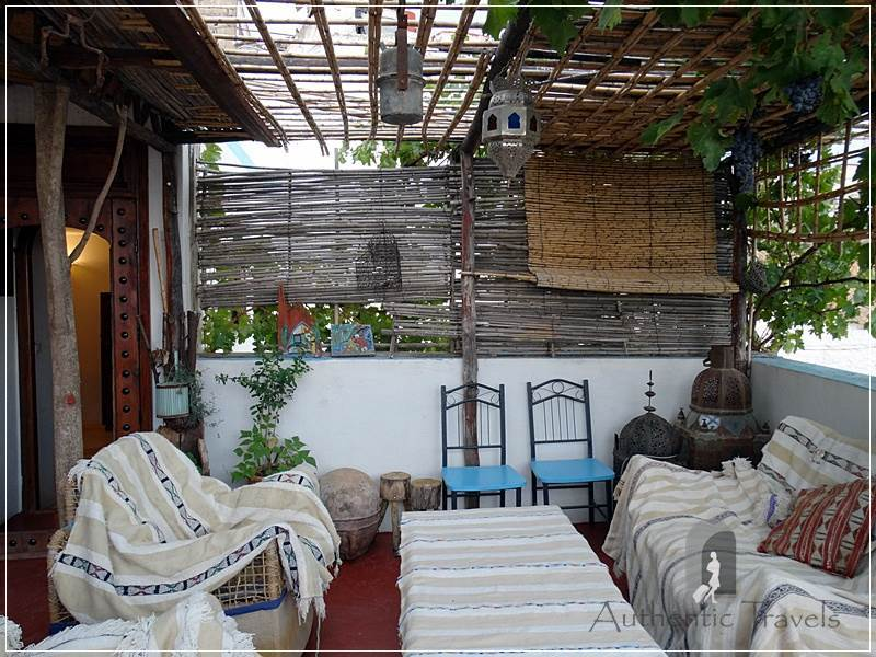 Dar Kamal Chaoui – the rooftop terrace with a sitting area