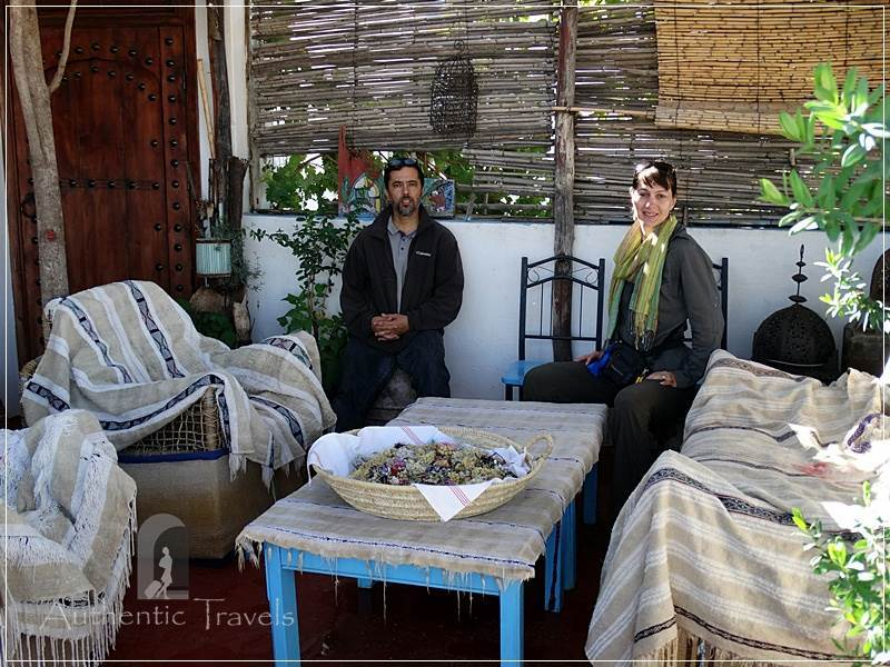 Dar Kamal Chaoui – with Kamal Chaoui on the rooftop terrace of the house