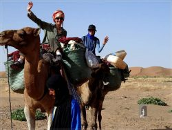 Camel Desert Trek - Day 3: riding the camels with Myriem