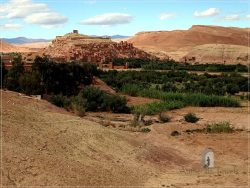 Ait Benhaddou - the location on the Ounilla Valley
