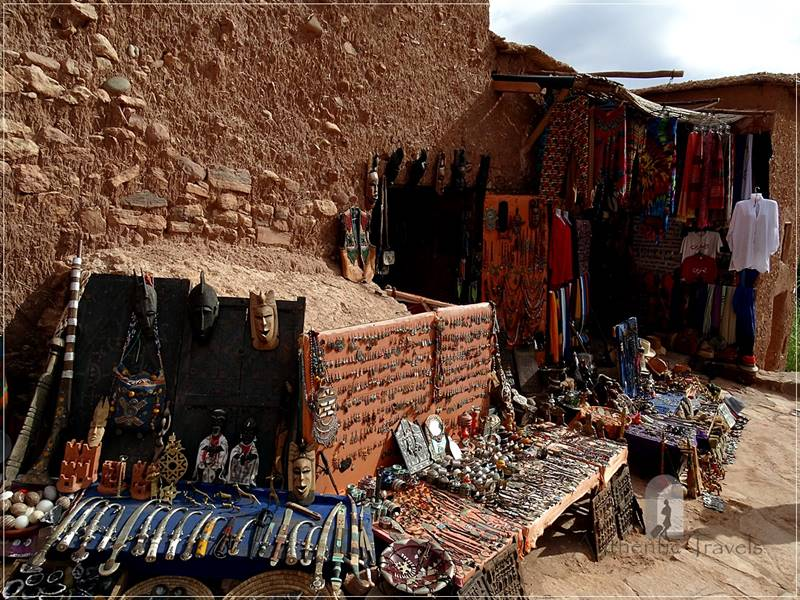 Ait Benhaddou - streets with shops