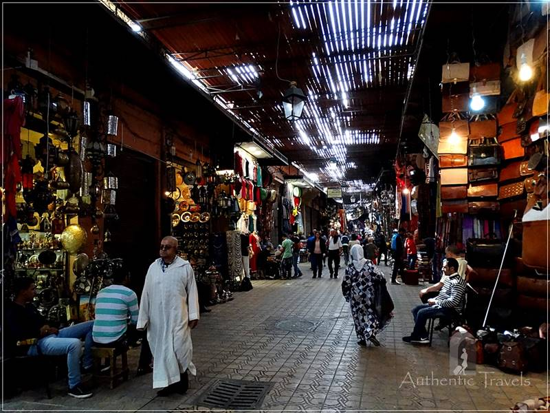 Marrakesh: one of the souqs in the medina