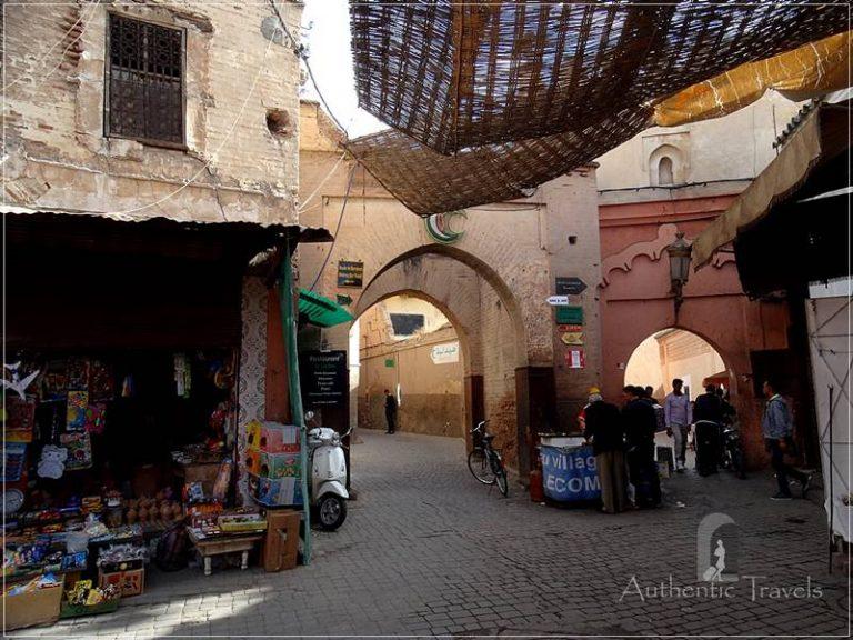Marrakesh: a typical narrow street in the medina