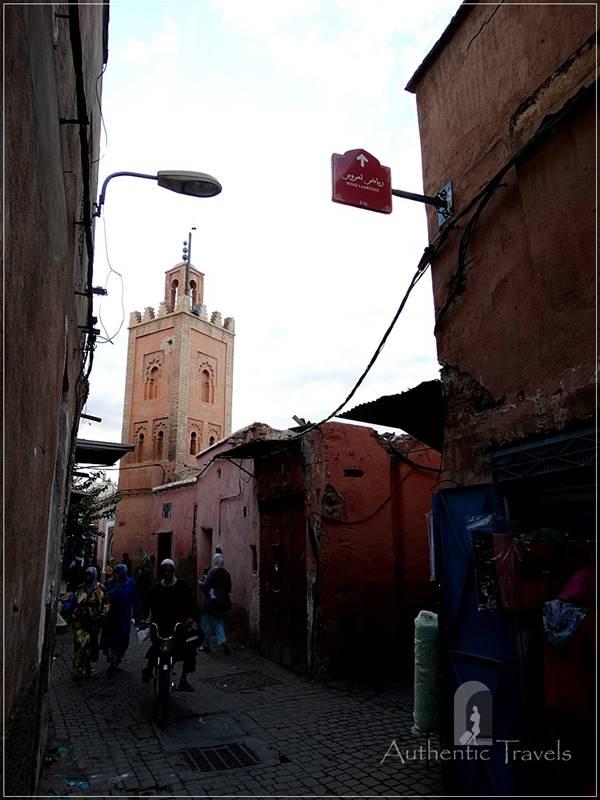 Marrakesh - narrow old streets in the medina