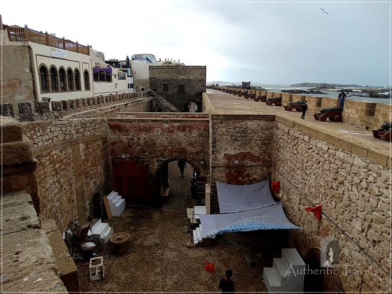 The old medina in Essaouira - Skala de la Ville Bastion
