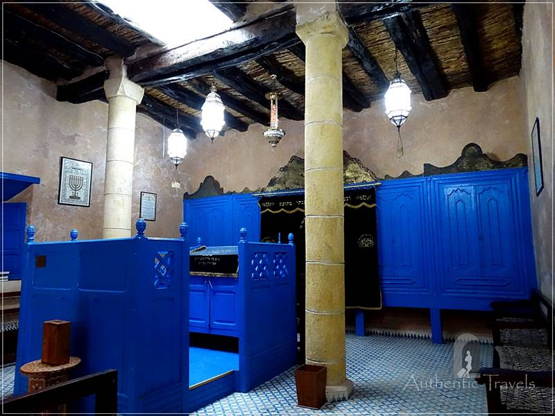 The old medina in Essaouira - the synagogue in the Jewish quarter (mellah)