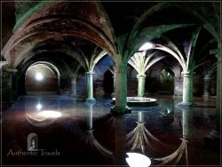 El Jadida: the ancient cistern in the underground of a building