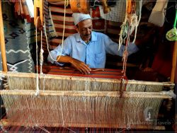 The old medina in Azemmour: Mohammed Janati in his Berber weaving shop