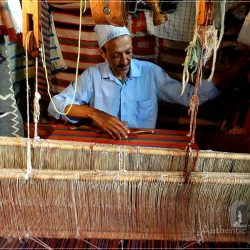 The old medina in Azemmour - Mohammed Janati in his Berber weaving shop