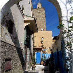 Rabat: typical street in the Kasbah les Oudaias