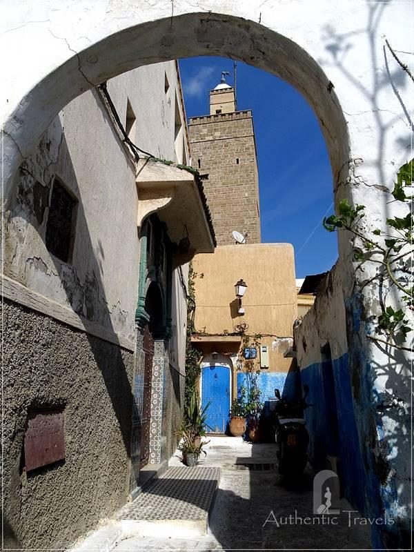 Rabat: a typical street in Kasbah les Oudaias