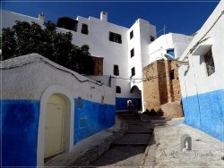 Rabat: descending street in the Kasbah les Oudaias