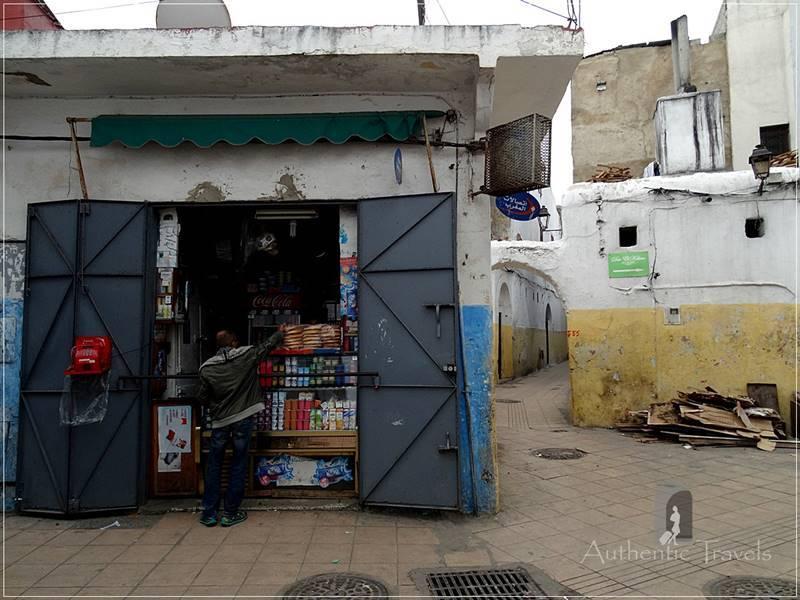 Rabat: the Old Medina - a typical Moroccan shop