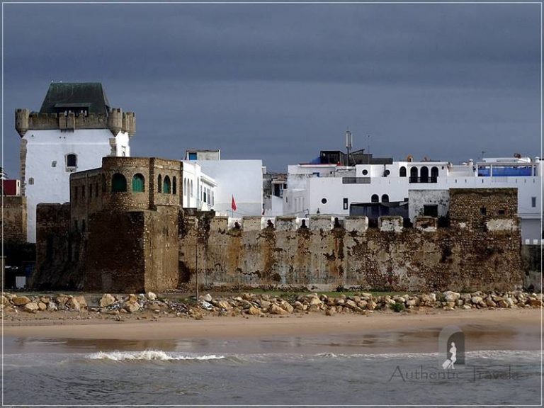 Assilah: view of the medina as seen from the seaside