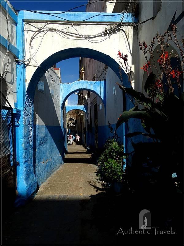 Larache: a street in the old medina
