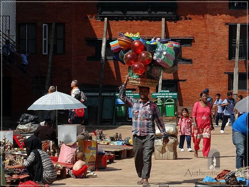 Kathmandu – Basantapur Square: everybody sells something