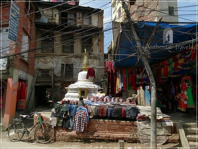 Kathmandu: a crowded street south of Durbar Square