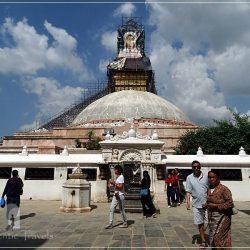 Bodhnath Stupa (a suburb of Kathmandu): pilgrims walking clockwise around the stupa