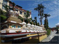 Kopan Monastery: the prayer wheels