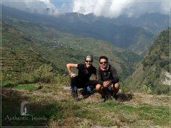 Tamang Heritage Trail - Day 2: Heading toward the Bamdang Khola Valley (with my guide-cum-porter Rishi)