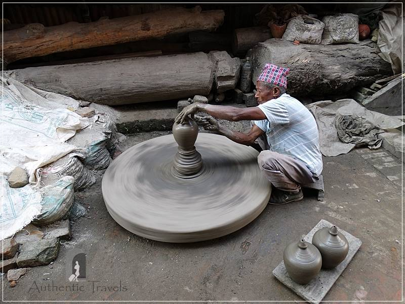 Kathmandu Valley: Bhaktapur - at the Potters' Square