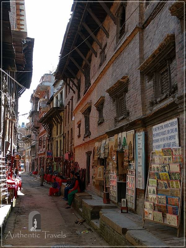 Kathmandu Valley: Bhaktapur - a street close to Tachupal Tole