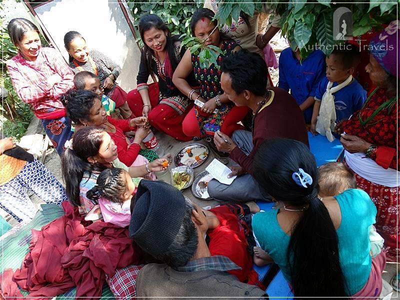 Kathmandu Valley: Kuttal village - accepting bids for grandpa's items (grandpa had died two weeks before)