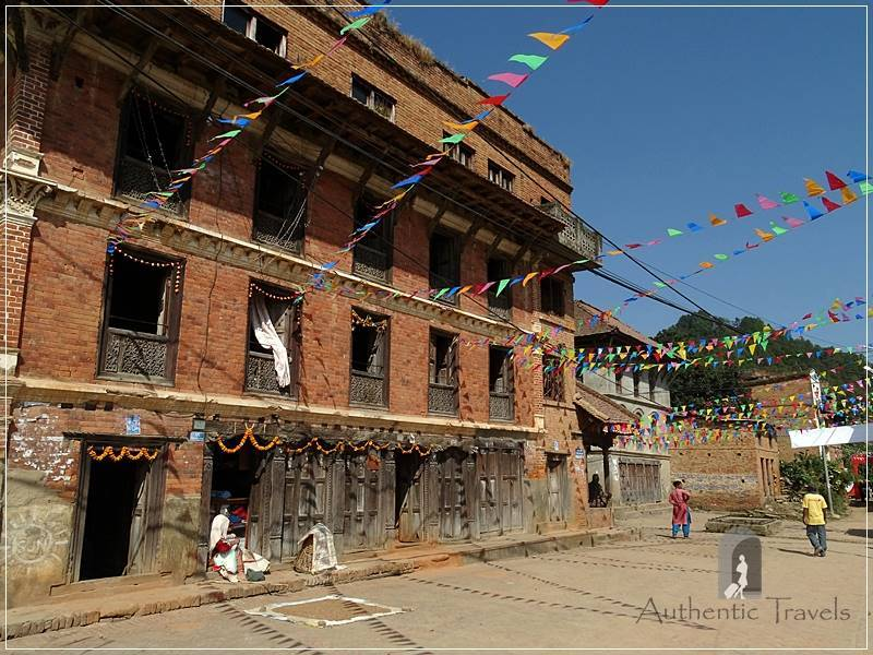 Kathmandu Valley: Panauti - decorated streets for the Lights Festival
