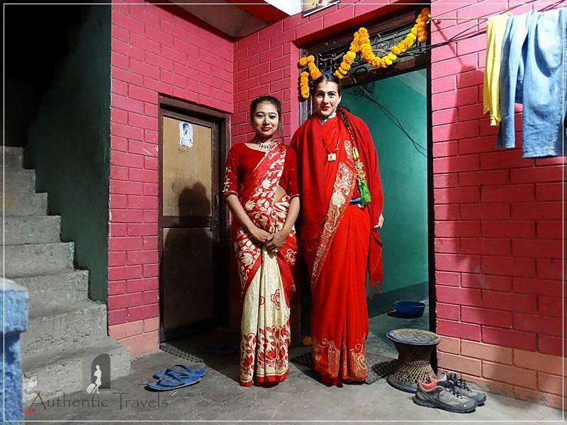 Kathmandu Valley: Bashgari - dressed in traditional sari