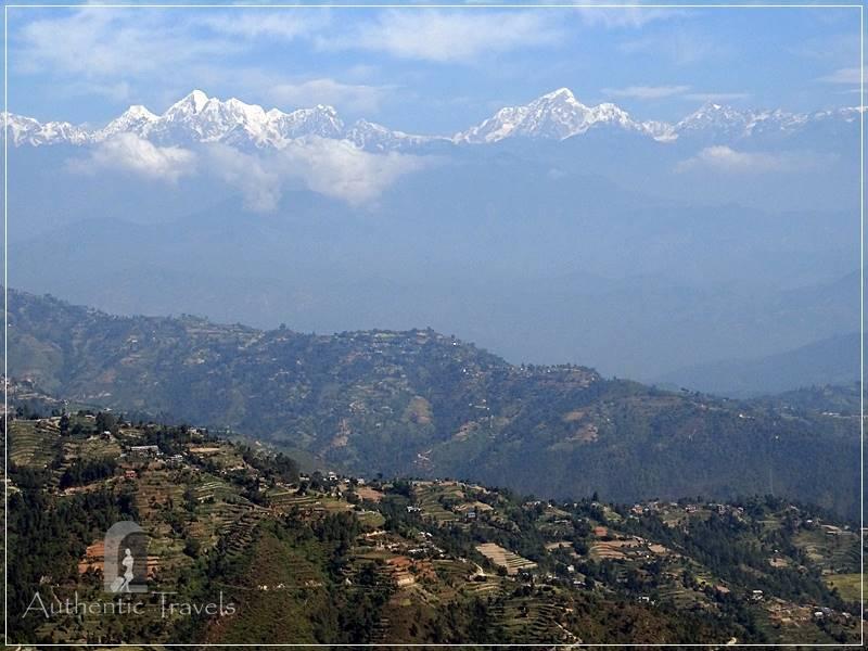 Kathmandu Valley: Dhulikel - admiring the Himalayas