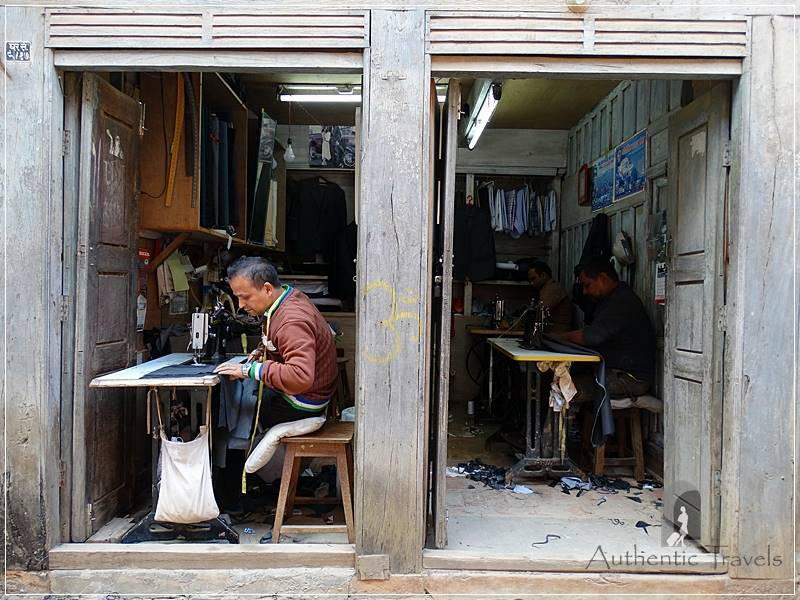 Tansen: tailor workshops along a traditional street