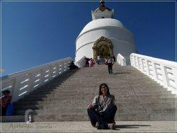 Pokhara: at the World Peace Pagoda