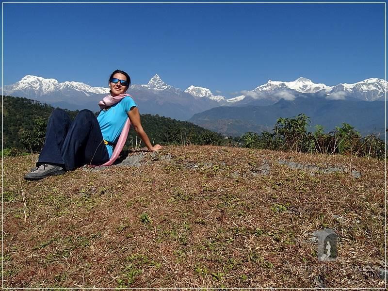 Pokhara - Going up to Sarangkot: the view of the Annapurna Range