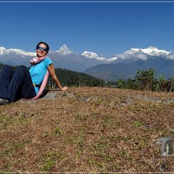 Pokhara - Going up to Sarangkot: the view of the Annapurna Range