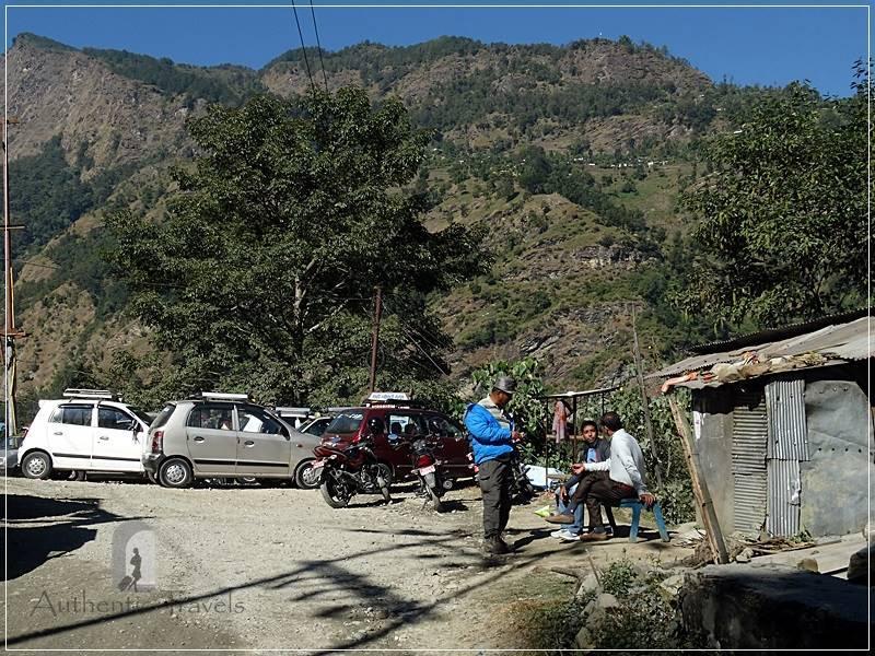 Ghorepani Trek: Nayapul - the parking where taxis bring trekkers from Pokhara