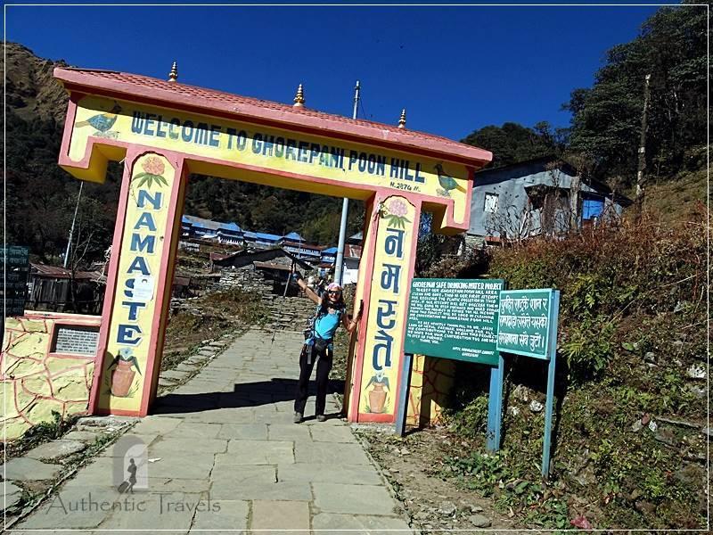 Ghorepani Trek: the entrance gate to Ghorepani Poon Hill