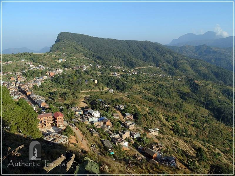 Bandipur Old Town: view from the stairs going up to Thani Mai Temple