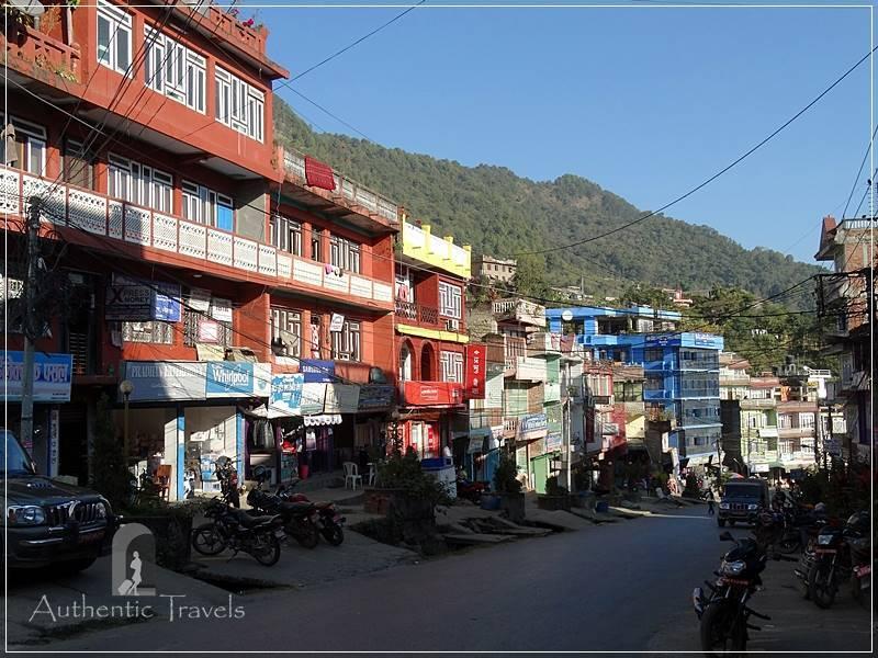 The main street in Gorkha