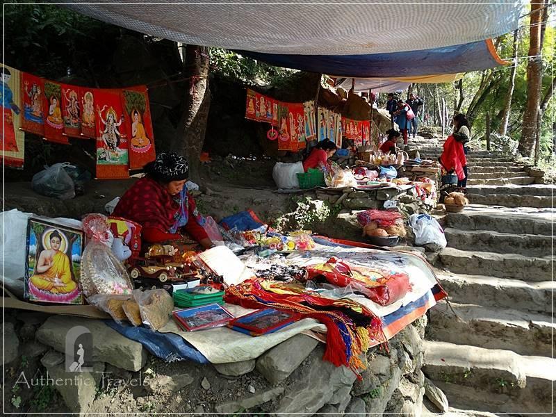Gorkha: religious stalls going up to Gorkha Durbar