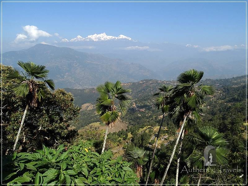 Gorkha: the view of the Himalayas