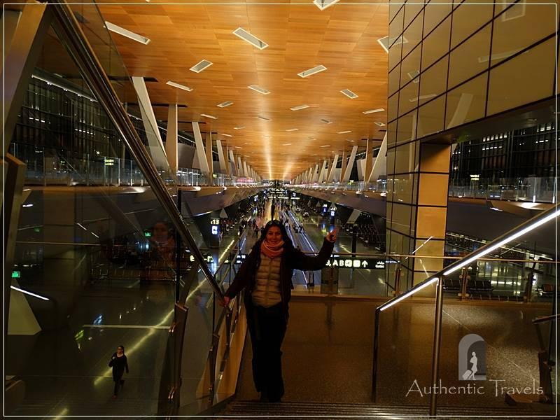 Doha International Airport: at 5.00 a.m. during the layover