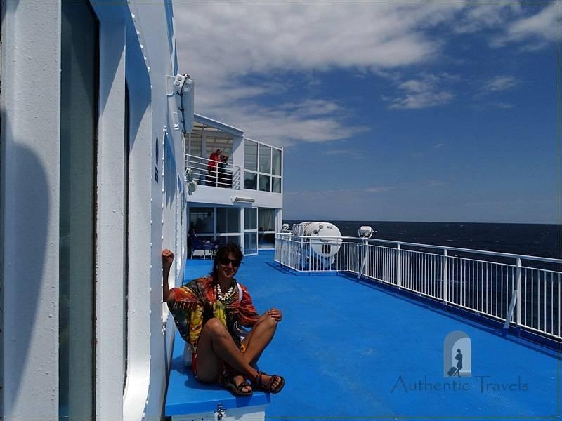 On the ferry from Kavala to Lemnos Island (Myrina port)