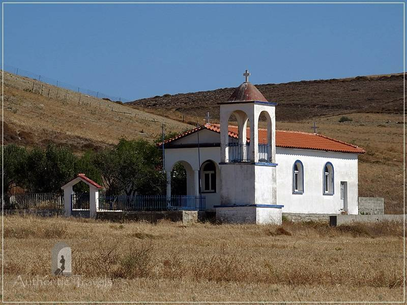 Typical whitewashed chapels on Lemnos Island - isolated chapels, almost everywhere (even on a hilltop)